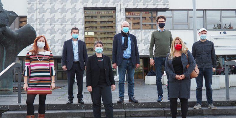 Bettina König, Uwe Brockhausen, Dr. Nicola Böcker-Giannini, Jörg Stroedter, Dr. Kai Kottenstede, Sevda Boyraci und Sven Meyer